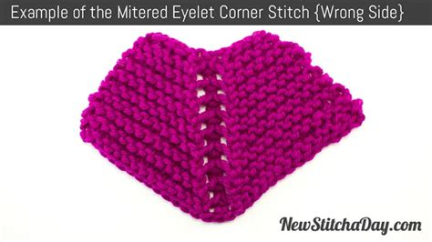 how to knit a mitered corner the eyelet mitered corner stitch knitting stitch 191