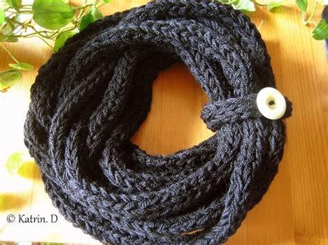 the knitting den finger knitted scarf schal stricken mit den fingern