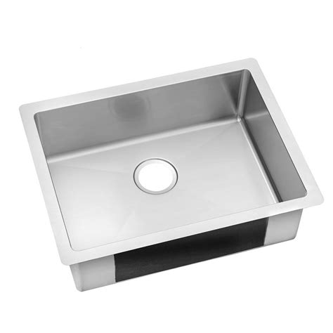 stainless steel undermount single bowl kitchen sink elkay crosstown undermount stainless steel 24 in single