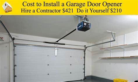 cost of garage door opener cost of garage door opener on genie garage door opener for