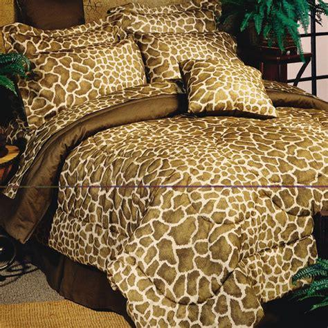 giraffe bedding 8pc brown giraffe print comforter sheet set ebay