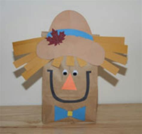 scarecrow paper bag craft scare scarecrow craft