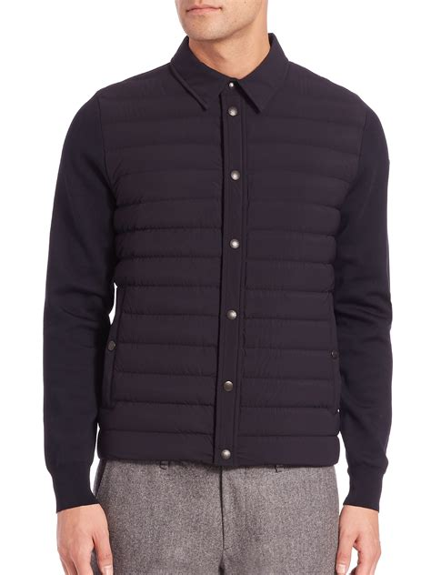 black knit cardigan moncler knit cardigan sweater in black for lyst