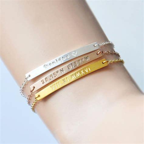 how to make custom gold jewelry aliexpress buy personalized bar bracelet engraved