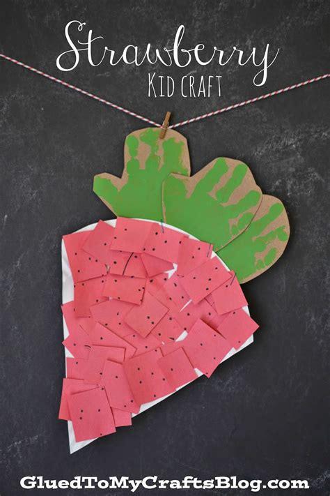 strawberry crafts for strawberry kid craft glued to my crafts