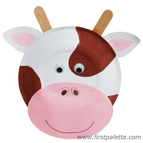 paper plate cow craft paper plate animals craft crafts firstpalette