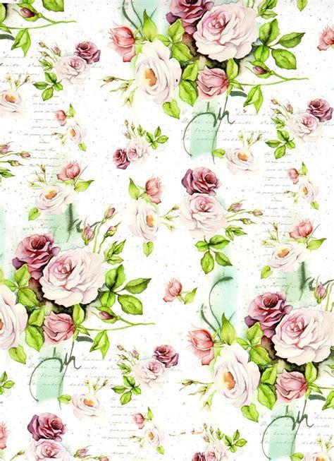 decoupage paper flowers flowers background digital decoupage scrapbooking por