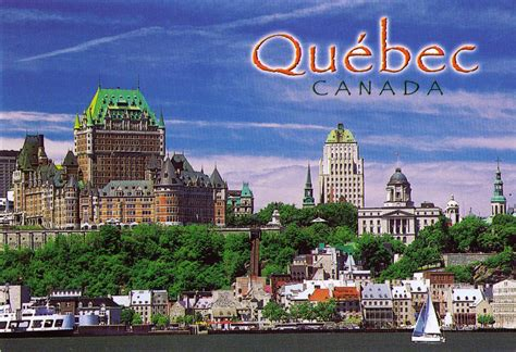 quã bec postcard exchange canada