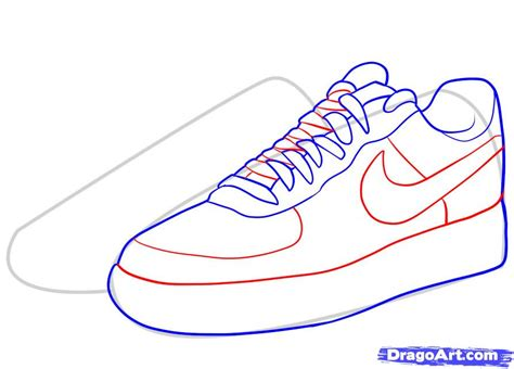 how to draw shoes how to draw nike how to draw air ones step by step