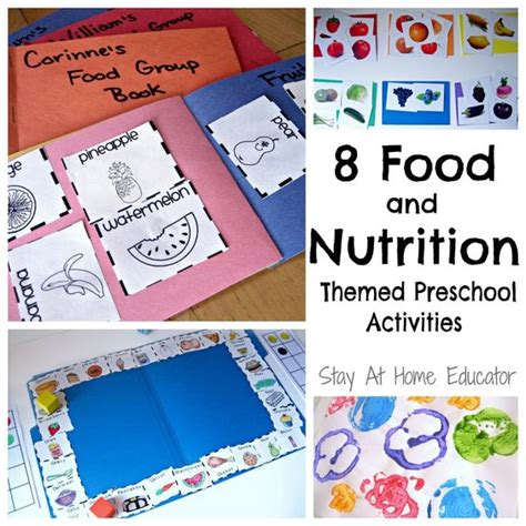 nutrition crafts for eight food and nutrition theme preschool activities