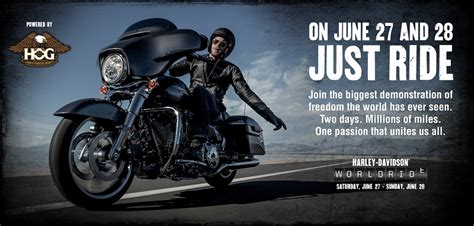 harley ride just ride in harley davidson s world ride on june 27