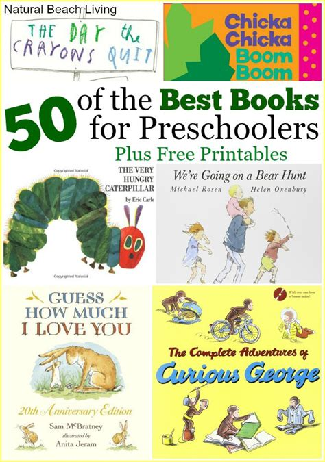 lesson plans for picture books 50 best books for preschoolers free printables
