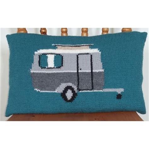 caravan knitting pattern classic caravan cushion cover knitting pattern by caroline