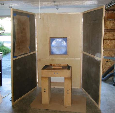 spray booth for woodworking shop tour