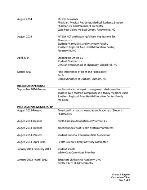 stacey english cv