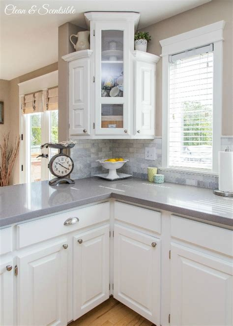 Kitchen Tile Backsplash Pictures white kitchen reveal home tour clean and scentsible