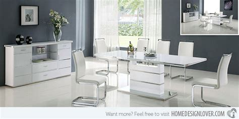 white modern dining room sets refreshingly neat 15 white dining sets home design lover