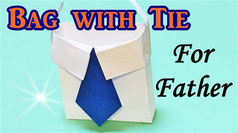 fathers day paper crafts origami bag shirt with tie for s day gift diy