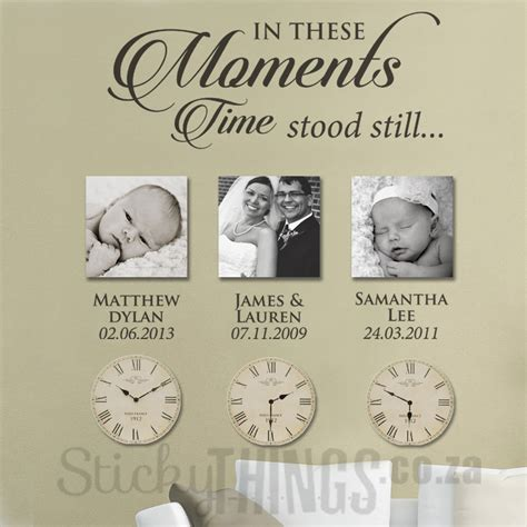photo wall stickers moments wall sticker with dates photo wall sticker
