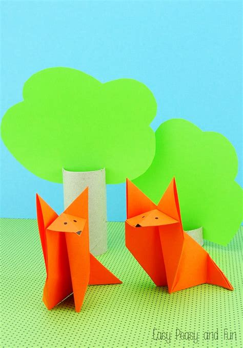 how to make a origami fox origami fox origami for easy peasy and