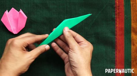 tulip origami step by step how to make an easy origami tulip tutorial