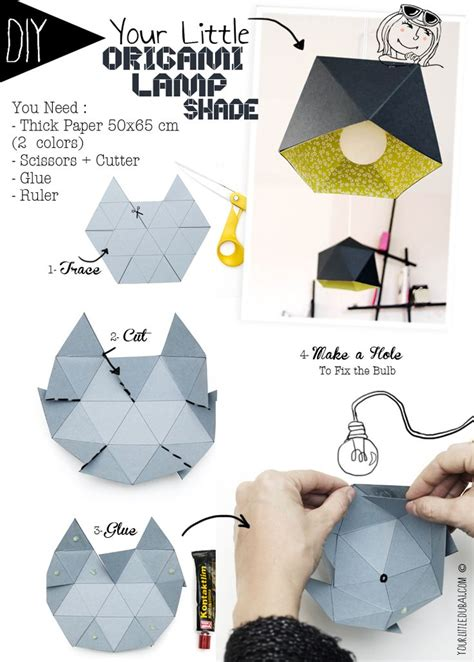 how to make origami lshade diy origami l shade your dubai tutorials and