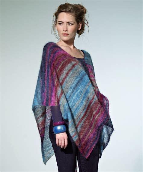 free poncho knitting patterns tranquil dusk poncho allfreeknitting