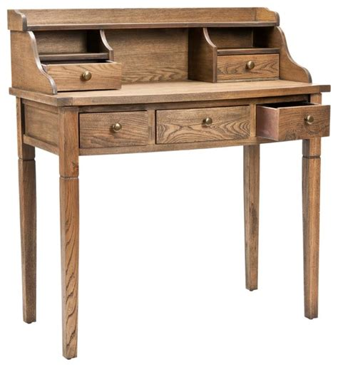landon desk with hutch cherry landon desk with hutch oak landon desk with hutch oak