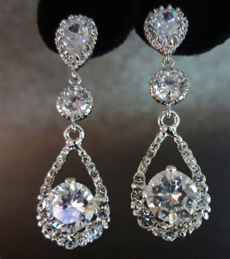 rhinestone for jewelry bridal jewelry rhinestone earrings by