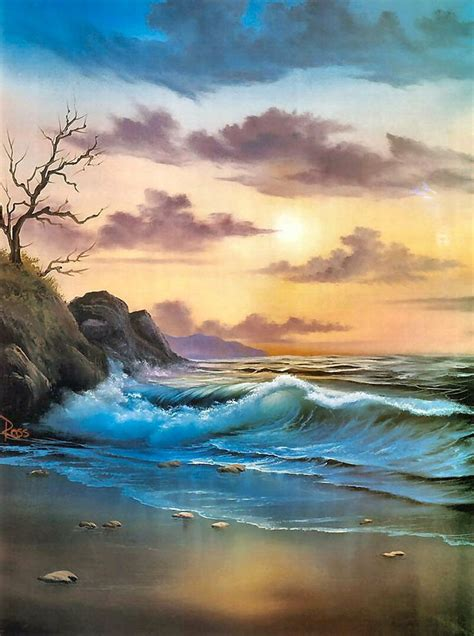 bob ross seascape paintings by the sea bob ross few of my favorite things