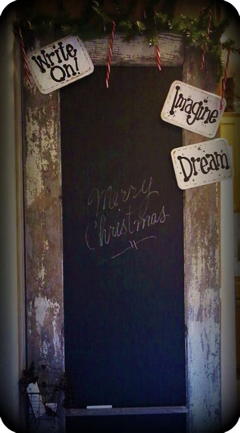 diy chalk paint pop upcycled wooden door with chalkboard paint