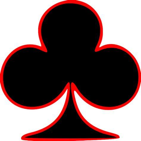 card club card club outlined black symbol