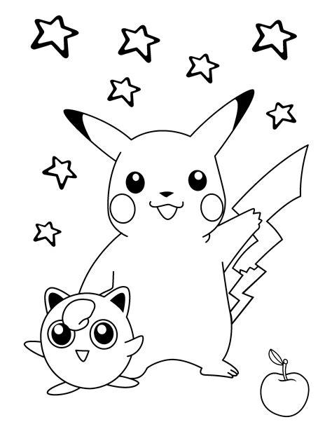 Pokemon Pikachu Etoiles Coloriages Pokemon Coloriages