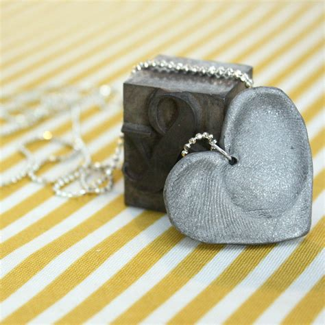 how to make fingerprint jewelry silver how to make a silver fingerprint necklace necklaces