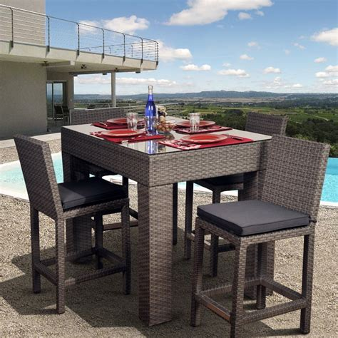 bar height patio dining set patio dining sets bar height minimalist pixelmari