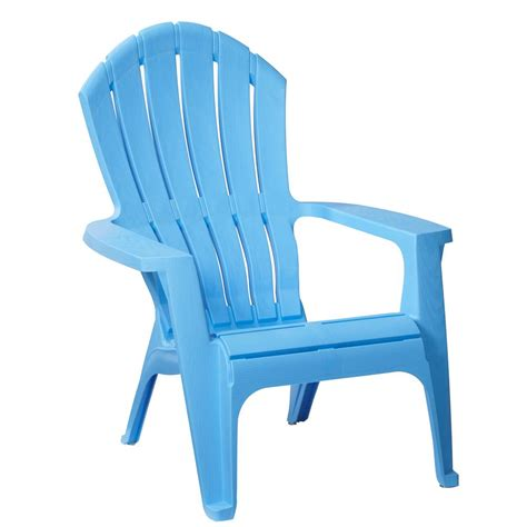 plastic patio chairs home depot realcomfort periwinkle plastic outdoor adirondack chair