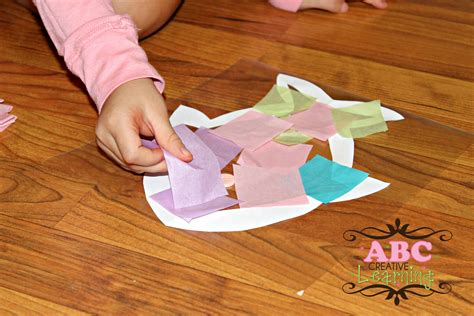 craft contact paper fish sun catcher craft