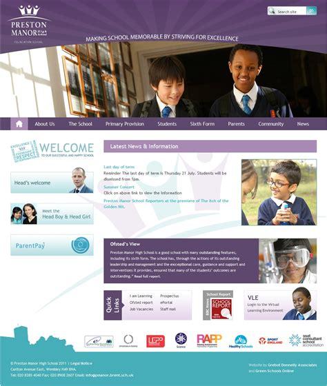 website to exles of purple school website design for inspiration