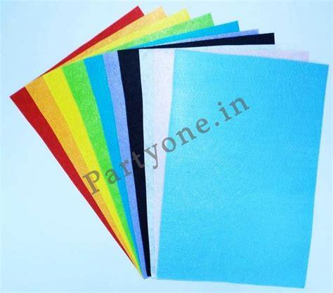 craft felt paper felt craft paper pack a4 size set of 10 in assor
