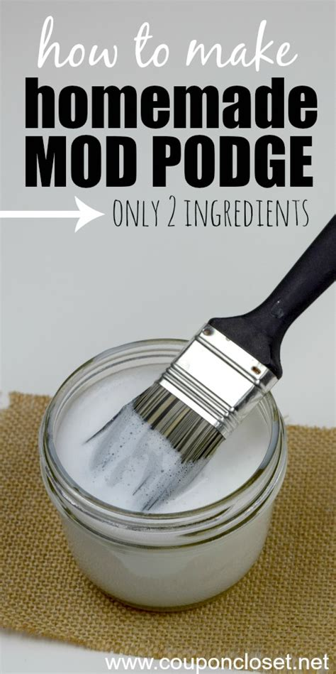 how to make decoupage glue how to make mod podge only 2 ingredients