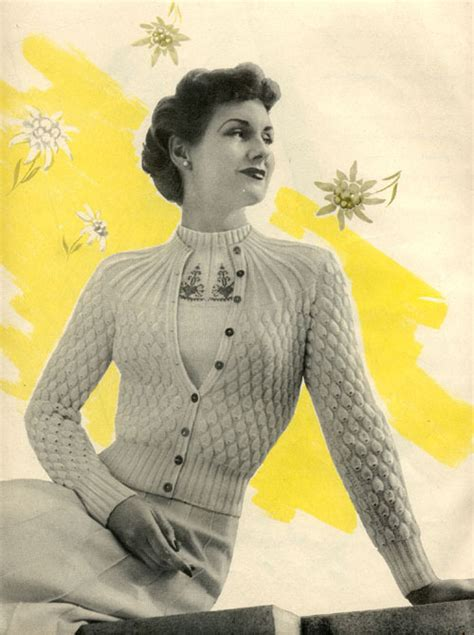vintage knits a look the vintage knitting patterns crochet and knit