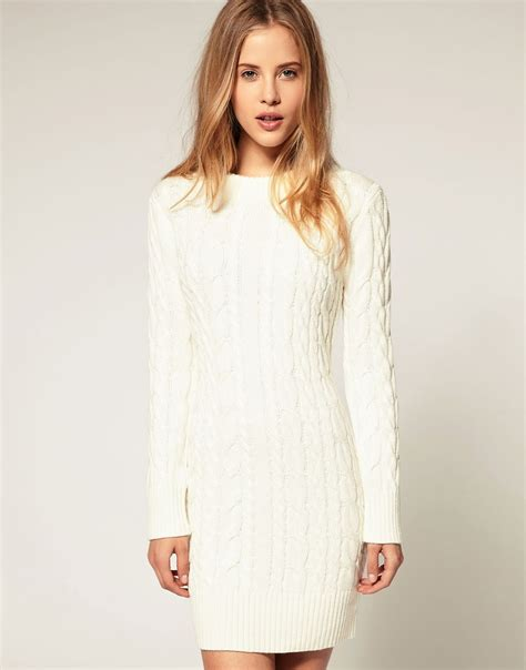 knitted sweater dress asos asos cable knit jumper dress at asos