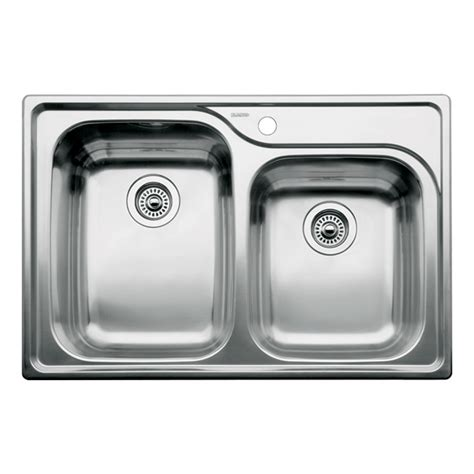 drop in kitchen sinks stainless steel shop blanco supreme 22 in x 33 in stainless steel