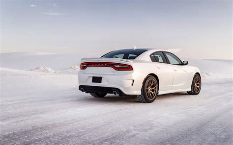 Car Wallpaper Snow by Dodge Charger Hellcat Car Snow Winter Road Wallpapers