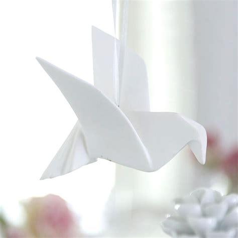 origami dove white porcelain origami dove