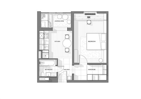www floorplan 3 modern style apartments 50 square meters includes floor plans