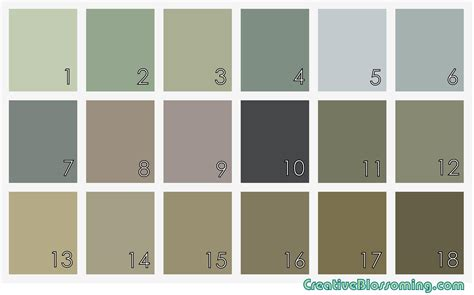 Earth Tone Paint Color Chart Earth Tone Paint Color Chart