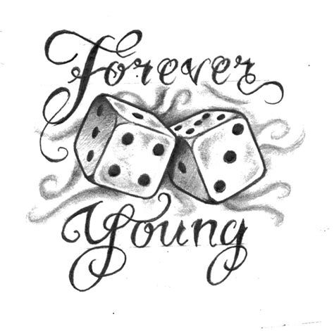 forever young tattoo design tattoos pinterest