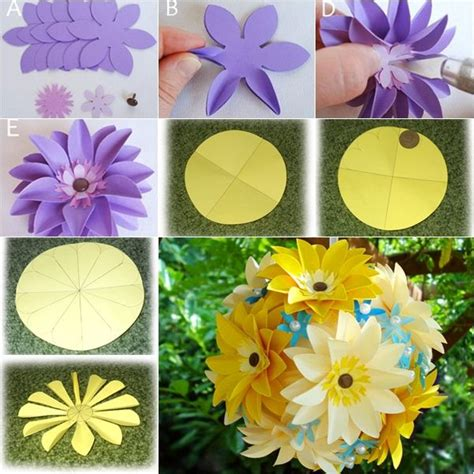 easy paper flower crafts how to make paper flowers search in