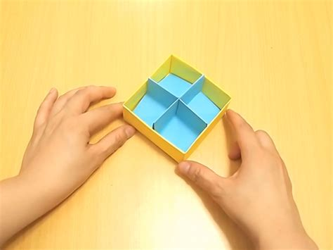 how to fold an origami box how to fold a divider for an origami box with pictures